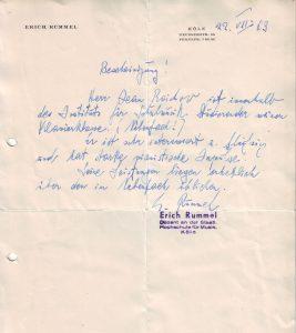Rummel Bescheinigung 1963