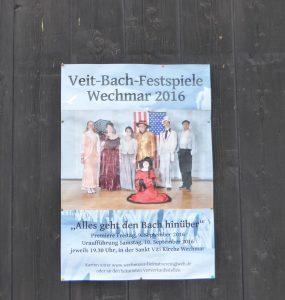 Wechmar Bach-Haus Plakat
