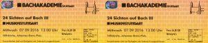 Bach Stuttgart Eintrittskarten