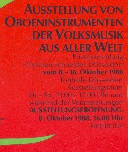 OBOE Schilfrohr Ausstellung