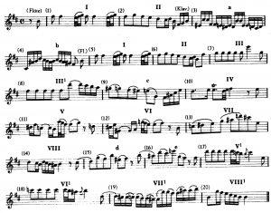Bach Flöte BWV 1030 Themablock