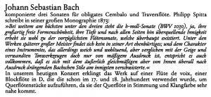 Haan Programm Bach