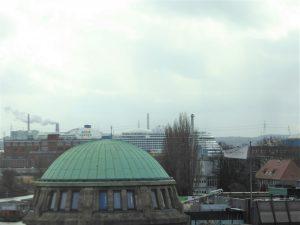 Hamburg Hafen März Aida 35