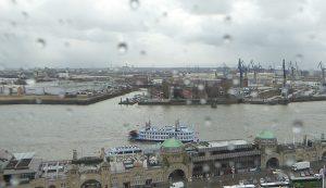 Hamburg Hafen März Regen 8a
