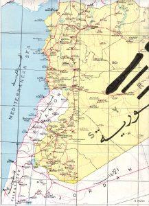 Syrien Landkarte 1967