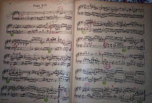 Bach-Fuge fis Übe-Noten