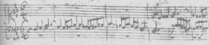 Bach-Fuge fis Original Anfang