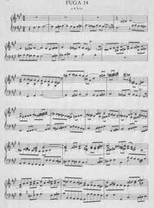 Bach-Fuge fis a