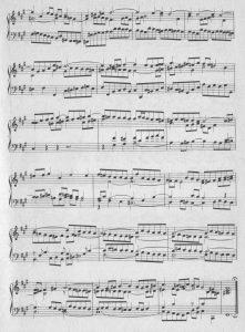Bach-Fuge fis b