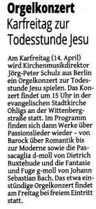 Stadtkirche Ohligs Zeitung