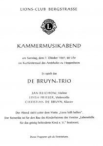 Trio Konzert 1967 Erbach