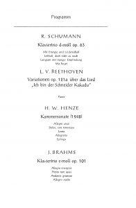 Trio Konzert 1967 Progr