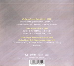 Mozarts Costa CD-Inhalt