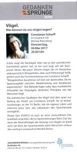 Vogelstimmen Bonn Scharff