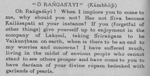 O Rangasayee Text von Tyagaraja