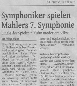 Tageblatt Mahler ST 20170627