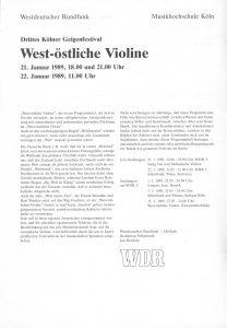 West-Östliche III 1