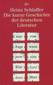 Schlaffer Heinz Literatur