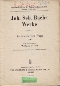 Bach Fuge Graeser