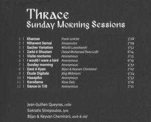 THRACE CD Programm