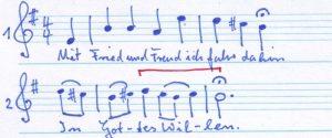Choral & Hymnus Luther 2 Zeilen