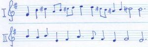 Choral & Hymnus Monteverdi 2 Zeilen