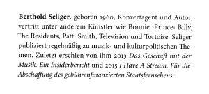 Berthold Seliger Bio