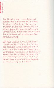 Berthold Seliger Cover b Klassik
