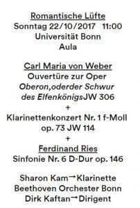 Bonn Konzert Oktober 2017