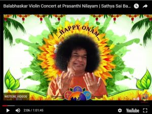 Guru in Prasanthi Nilayam Ansicht