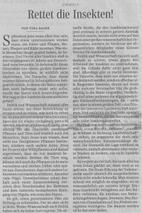 Insekten Süddeutsche 21. Oktober 2017