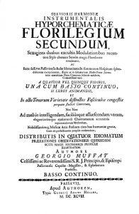 Muffat Florilegium Titelblatt