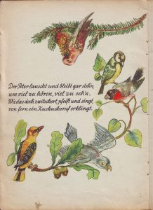 Peterchen im Walde Vögel