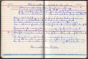 Kalender Rilke 1960