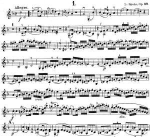 Spohr op 39 Detail Viol I