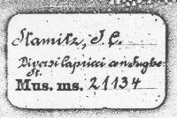 Stamitz Signatur