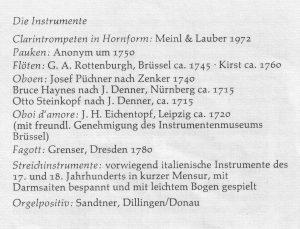 WeihnachtsOratorium 1973 Instr