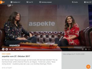 ZDF Aspekte Oberlinger Screenshot