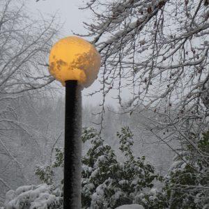 Eiche, Lampe, Schnee 171210