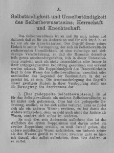 Hegel Herr und Knecht kl