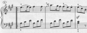 Mozart A-dur Detail a