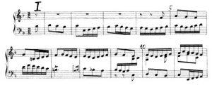 Bach Fuge F Thema