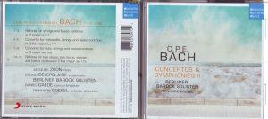 Goebel CPE Bach Cover vorn u hinten +