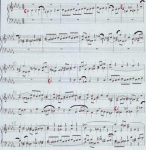 Bach b-moll Artikulation Thema