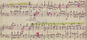 Bach b-moll-Fuge Pfundnoten