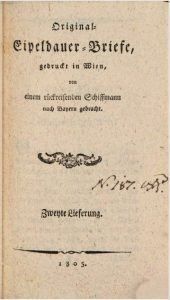 Eipeldauer Briefe 1805