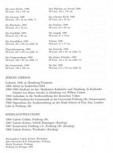 Jürgen Giersch Katalog + Bio