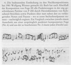 Bach Handschrift umdrehen