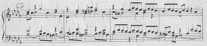 Bach b-moll Kreisfigur