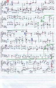 Bach b-moll Skizze